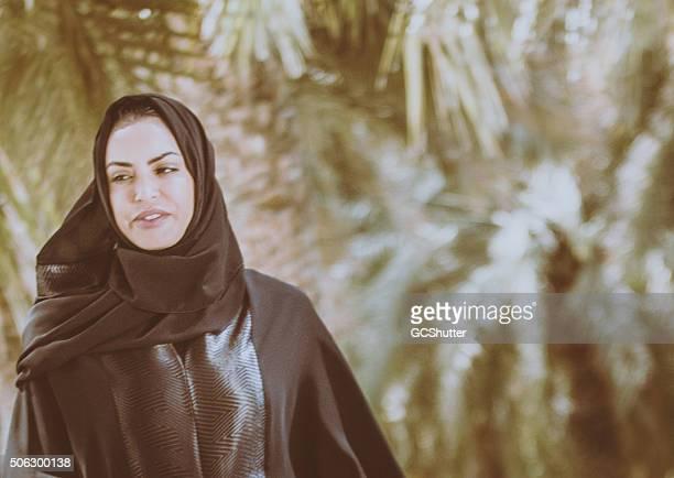 Emarati Woman in Traditional Dress