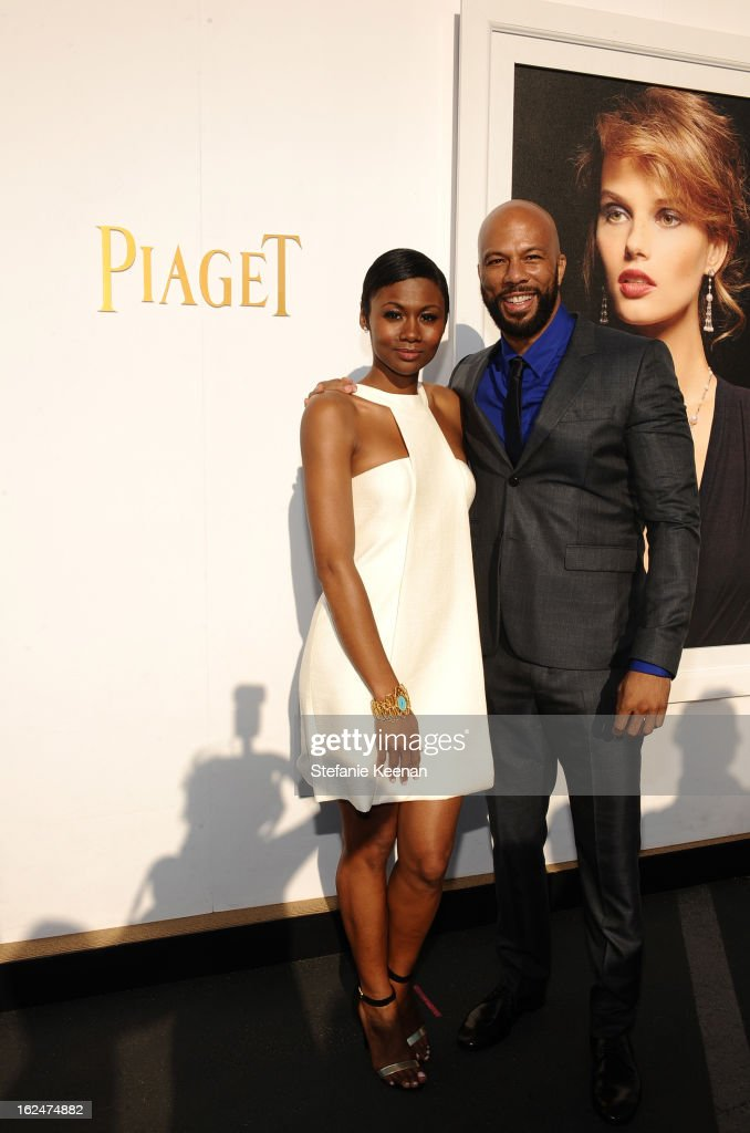 <a gi-track='captionPersonalityLinkClicked' href=/galleries/search?phrase=Emayatzy+Corinealdi&family=editorial&specificpeople=7068358 ng-click='$event.stopPropagation()'>Emayatzy Corinealdi</a> and recording artist Common pose in the Piaget Lounge during The 2013 Film Independent Spirit Awards on February 23, 2013 in Santa Monica, California.