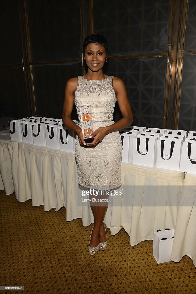 <a gi-track='captionPersonalityLinkClicked' href=/galleries/search?phrase=Emayatzy+Corinealdi&family=editorial&specificpeople=7068358 ng-click='$event.stopPropagation()'>Emayatzy Corinealdi</a> attends the IFP's 22nd Annual Gotham Independent Film Awards at Cipriani Wall Street on November 26, 2012 in New York City.
