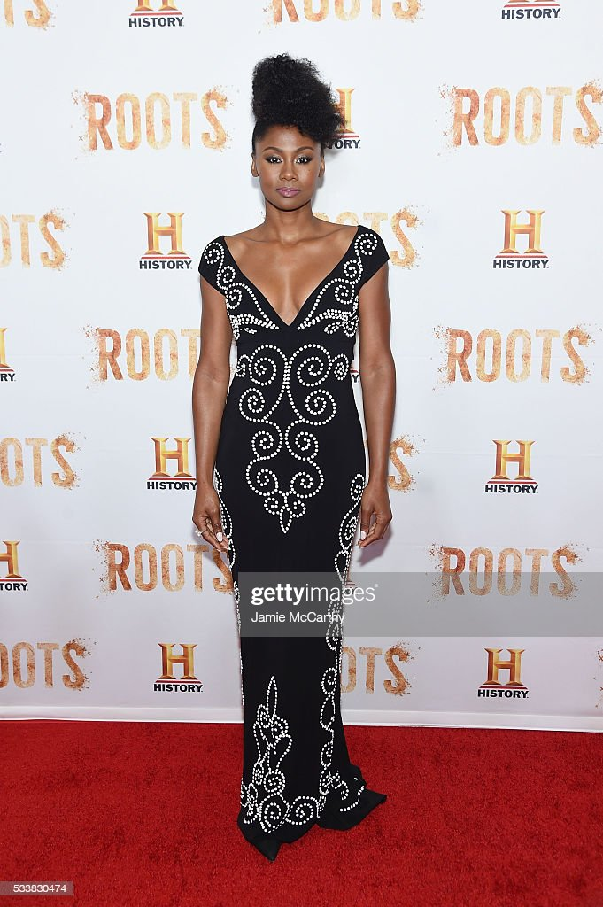 Emayatzy Corinealdi attends the 'Roots' night one screening at Alice Tully Hall Lincoln Center on May 23 2016 in New York City