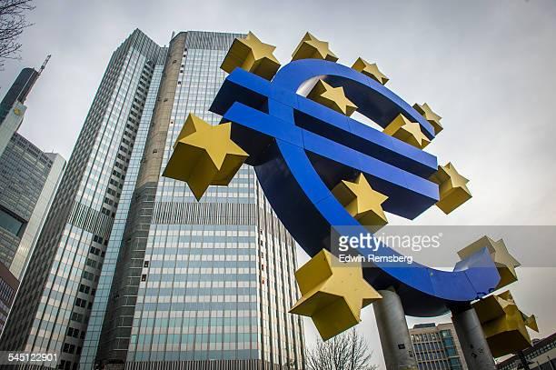 Embellished representation of the euro