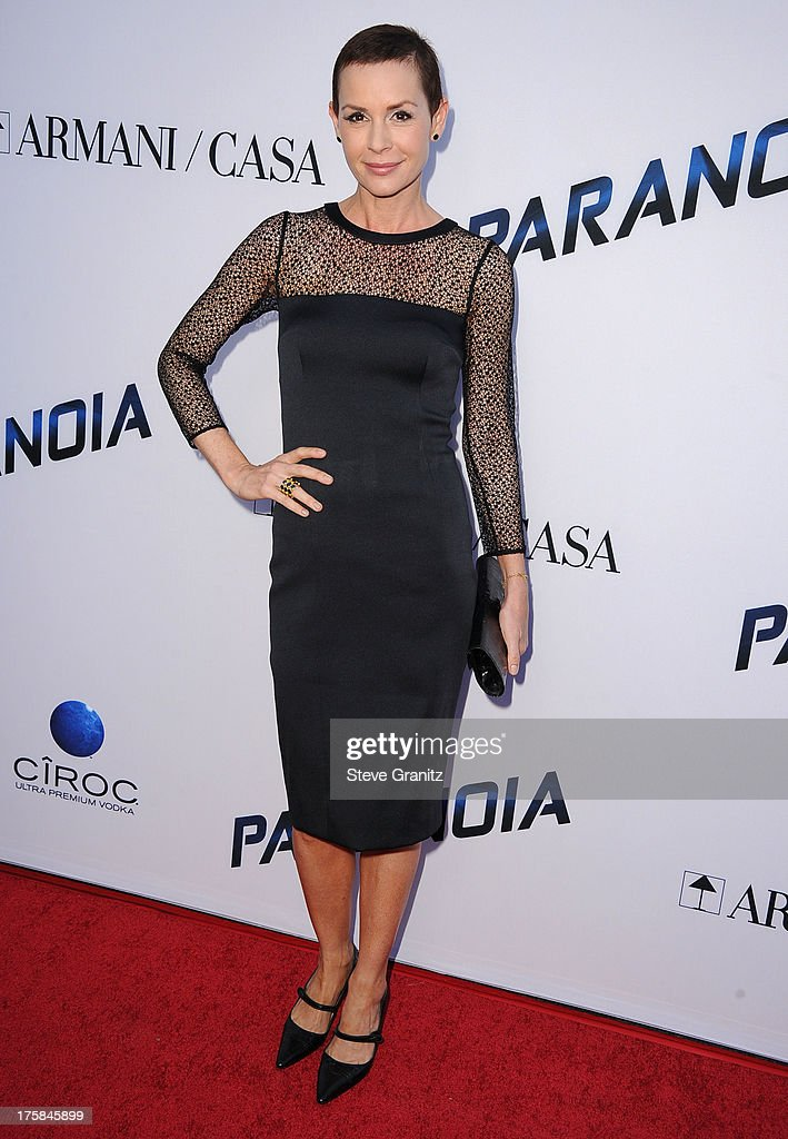 Embeth Davidtz arrives at the 'Paranoia' - Los Angeles Premiere at DGA Theater on August 8, 2013 in Los Angeles, California.