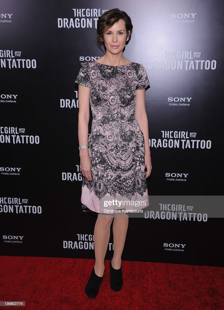 Embeth Davidtz attends the 'The Girl With the Dragon Tattoo' New York premiere at Ziegfeld Theater on December 14, 2011 in New York City.