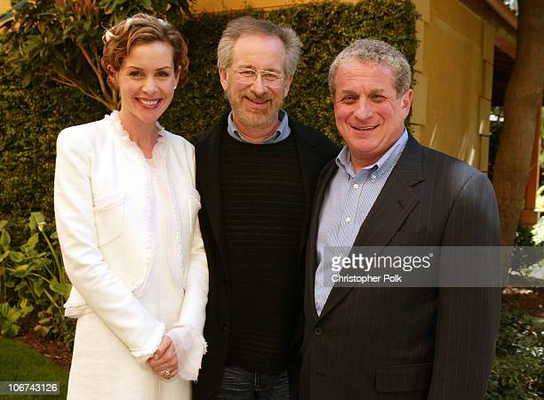 Embeth Davidtz Steven Spielberg and Douglas Greenberg President and CEO of SSVHF