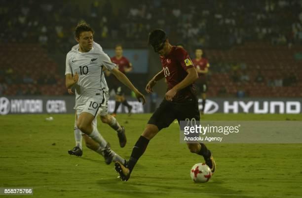 Embiya Ayyildiz of Turkey U17 in action against Ebbinge of New Zealand U17 during the FIFA U17 World Cup India 2017 football match between Turkey U17...
