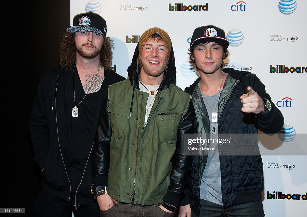 Emblem 3 attends The Billboard GRAMMY After Party at The London Hotel on February 10, 2013 in West Hollywood, California.