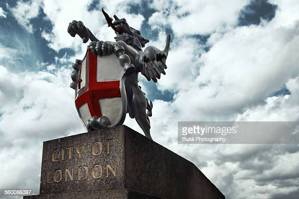 Emblem of the City of London, near London bridge
