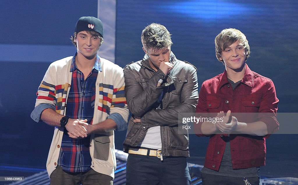 Emblem3 onstage at FOX's 'The X Factor' Season 2 Top 10 to 8 Live Elimination Show on November 22, 2012 in Hollywood, California.