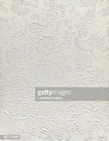 Embossed floral design of a wedding pattern
