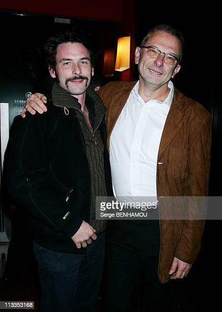 'L'Embrasement' Premiere In Paris France On January 08 2007 Sagamore Stevenin and Philippe Triboit