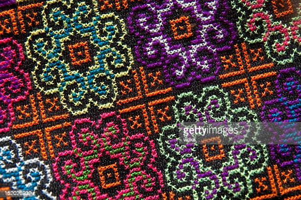 embroidered floral pattern