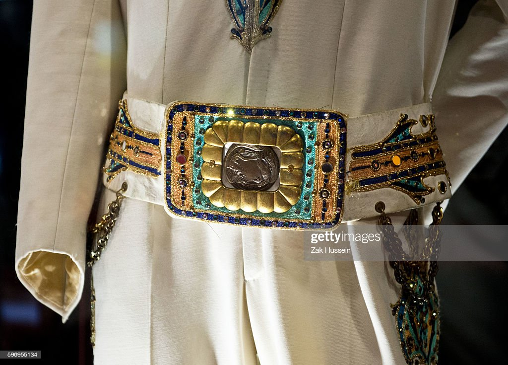 'Embroidered King of Spades Jumpsuit' part of 'Elvis at the O2 Direct from Graceland' exhibition in London Elvis at the O2 is the largest Elvis...