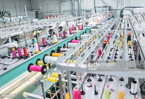 embroidery machine at a clothing factory
