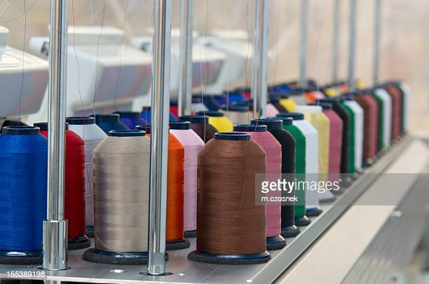 Embroidery spools of thread