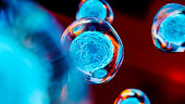 Creative image of embryonic stem cells, cellular therapy, 3d illustration
