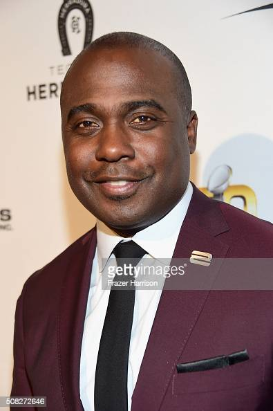 Emcee Marshall Faulk attends Glazer Palooza and Suits and Sneakers on February 3 2016 in San Francisco California