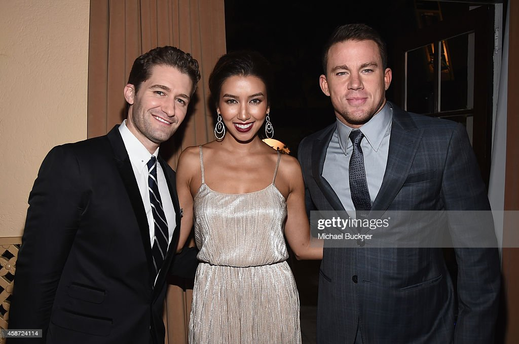 Emcee Matthew Morrison actress Renee Puente and actor Channing Tatum attend The 2014 Hamilton Behind the Camera Awards presented by Hamilton Watch...