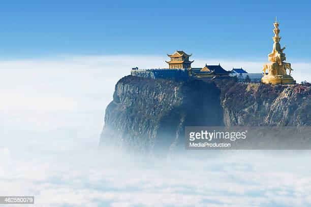Emeishan Jinding Templo de 3000 Metros acima do nível do mar
