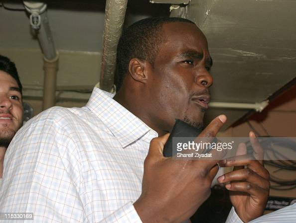 Emeka Okafor #2 Pick during 2004 NBA Draft After Party at Deep in New York City New York United States