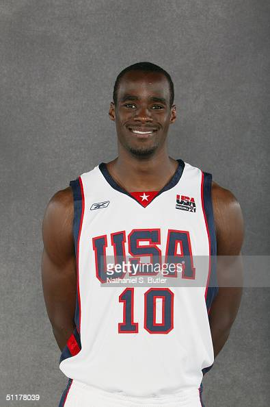 Emeka Okafor of Team USA poses for a portrait at the University of Florida Arena on July 26 2004 in Jacksonville Florida NOTE TO USER User expressly...