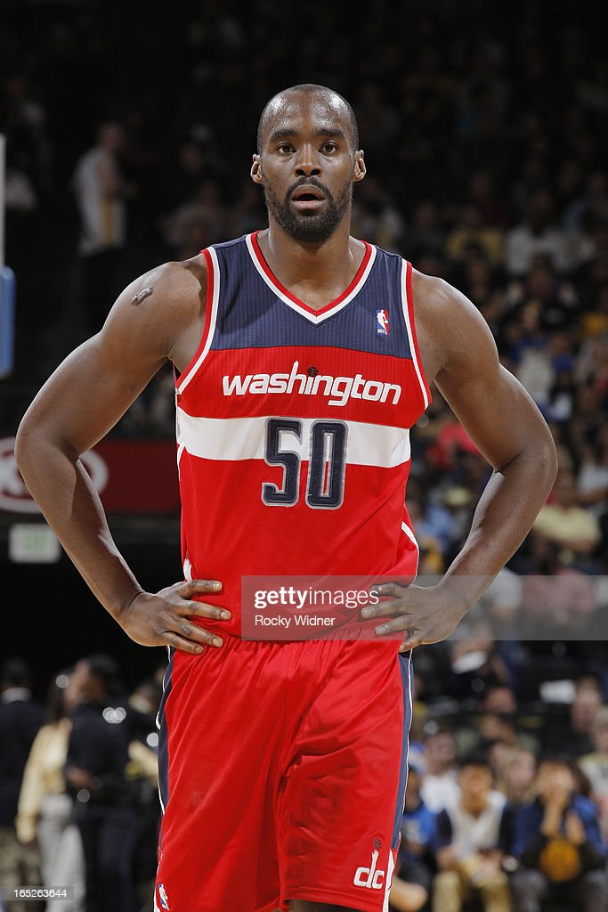 <a gi-track='captionPersonalityLinkClicked' href=/galleries/search?phrase=Emeka+Okafor&family=editorial&specificpeople=201739 ng-click='$event.stopPropagation()'>Emeka Okafor</a> #50 of the Washington Wizards against the Golden State Warriors on March 23, 2013 at Oracle Arena in Oakland, California.