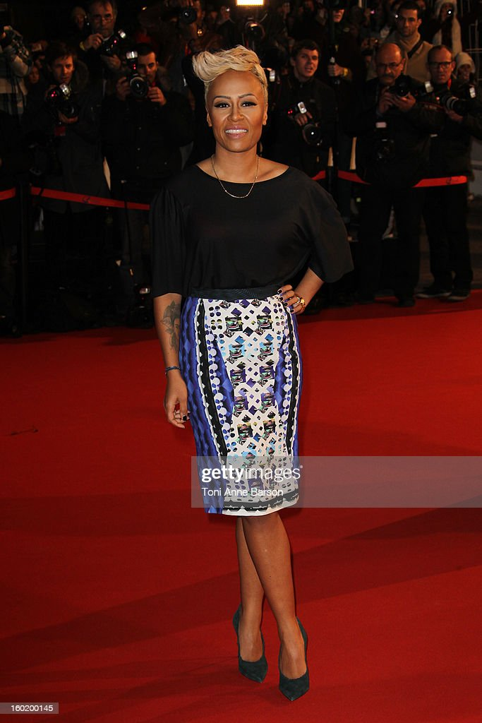 Emeli Sande arrives at the NRJ Music Awards 2013 at Palais des Festivals on January 26, 2013 in Cannes, France.