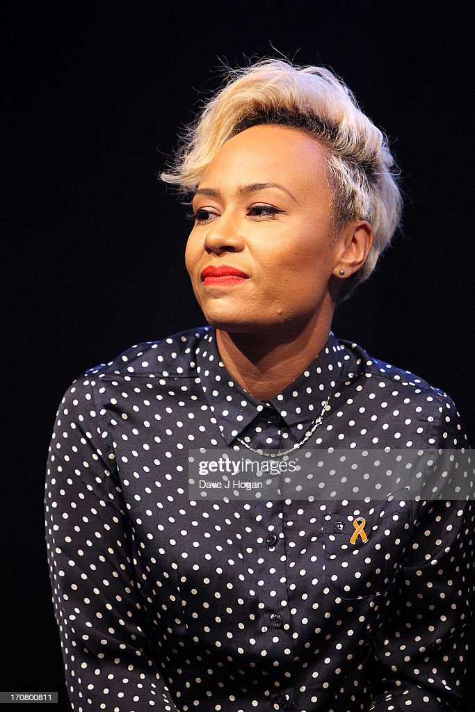 Emeli Sande attends a press conference and photocall to accounce 'Unity - A Concert for Stephen Lawrence' at Abbey Road Studios on June 18, 2013 in London, England.