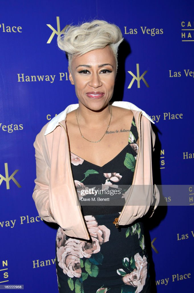 Emeli Sande attends as Calvin Harris announces Hakkasan Las Vegas Residency at his BRIT Awards After-Party at Hakkasan Mayfair on February 20, 2013 in London, England.