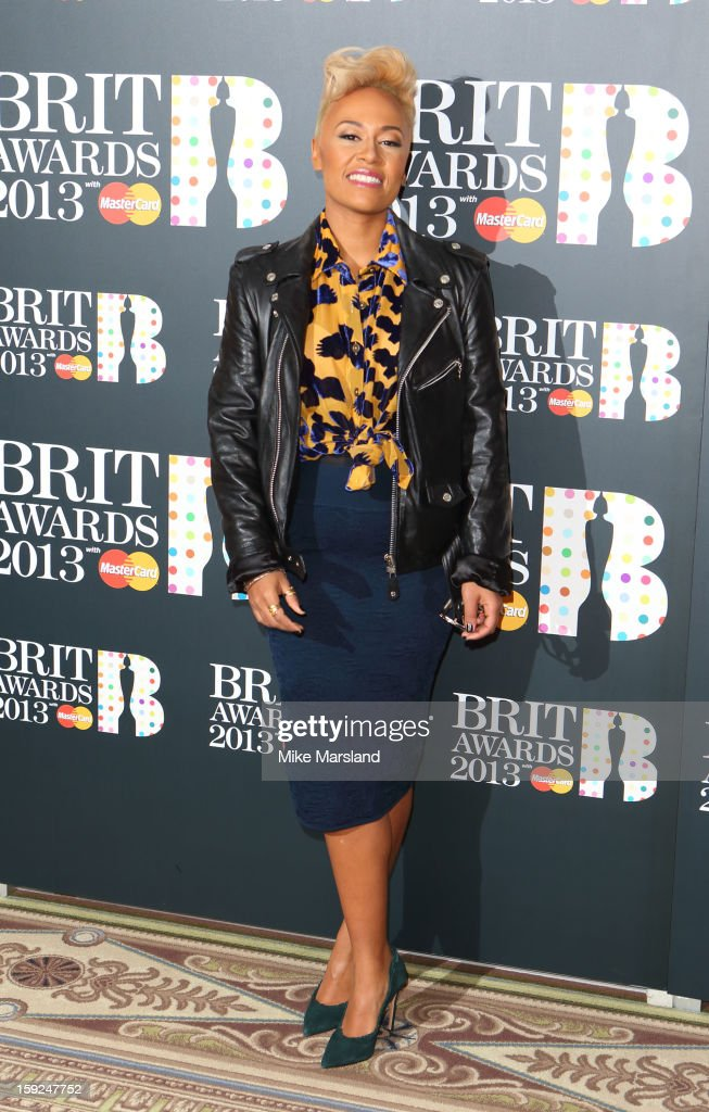 Emeli Sande attends as the nominations for the BRIT Awards are announced at The Savoy Hotel on January 10, 2013 in London, England.