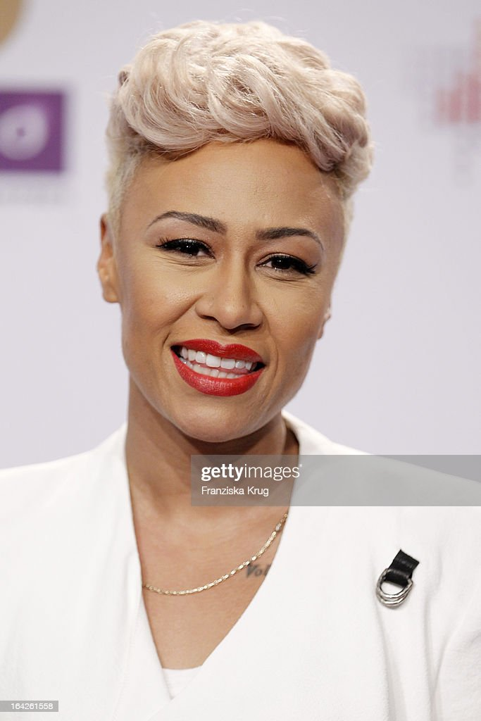 <a gi-track='captionPersonalityLinkClicked' href=/galleries/search?phrase=Emeli+Sande&family=editorial&specificpeople=7220317 ng-click='$event.stopPropagation()'>Emeli Sande</a> attends at the Echo Award 2013 at Palais am Funkturm on March 21, 2013 in Berlin, Germany.