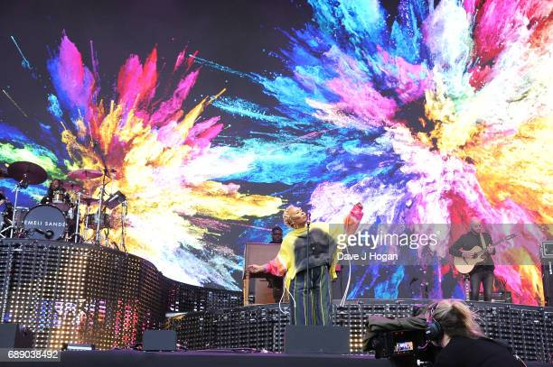 Emeli Sande attends Day 1 of BBC Radio 1's Big Weekend 2017 at Burton Constable Hall on May 27 2017 in Hull United Kingdom