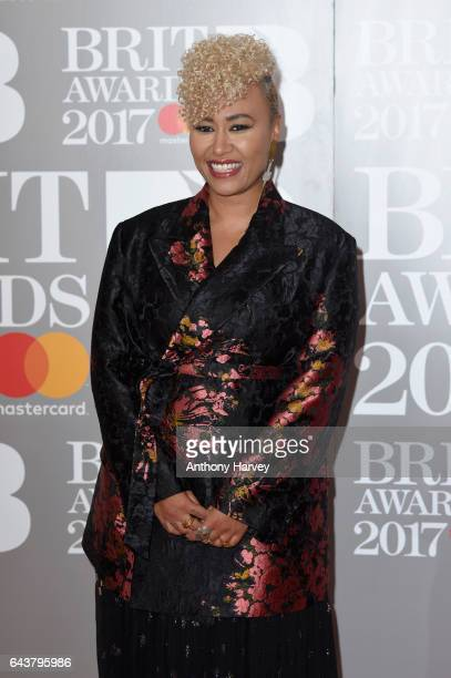 Emeli Sande attends The BRIT Awards 2017 at The O2 Arena on February 22 2017 in London England