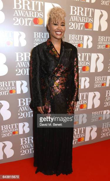 ONLY Emeli Sande attends The BRIT Awards 2017 at The O2 Arena on February 22 2017 in London England