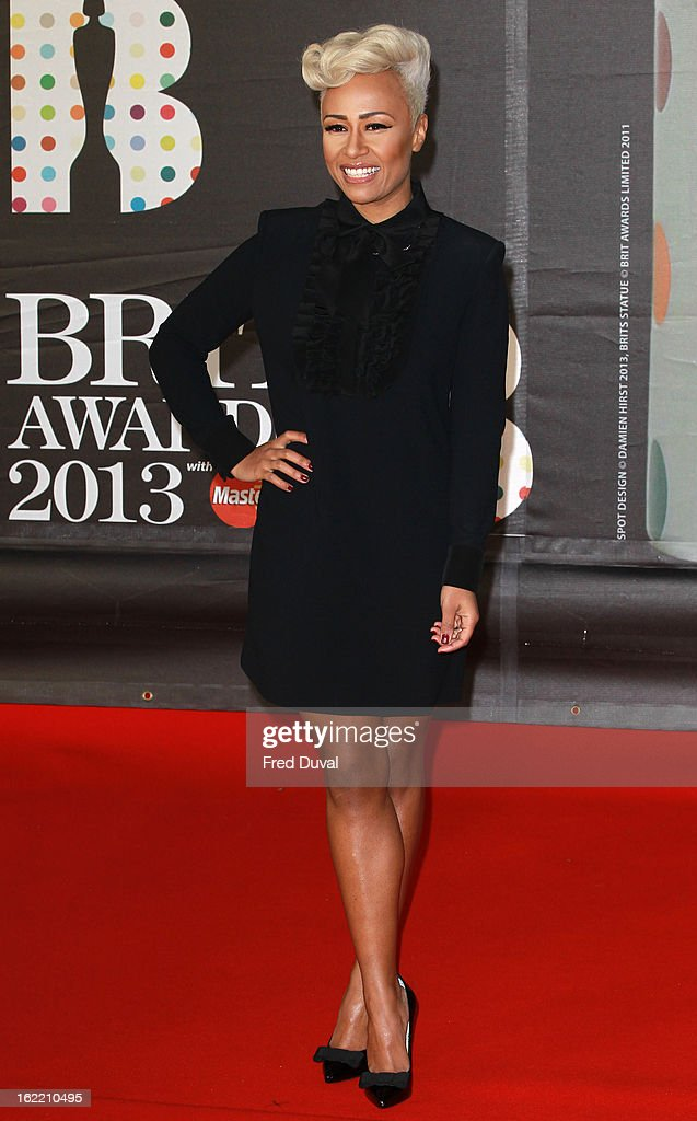 Emeli Sande attends the Brit Awards at 02 Arena on February 20, 2013 in London, England.