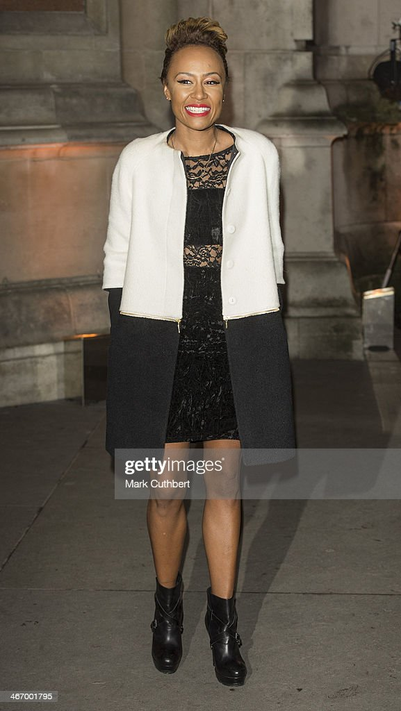 Emeli Sande attends the British Asian Trust reception at Victoria Albert Museum on February 5 2014 in London England