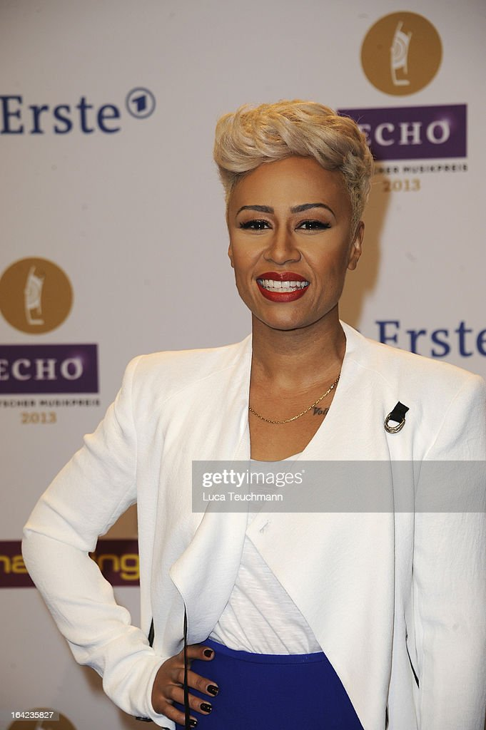 Emeli Sande attends the Echo Award 2013 at Palais am Funkturm on March 21, 2013 in Berlin, Germany.