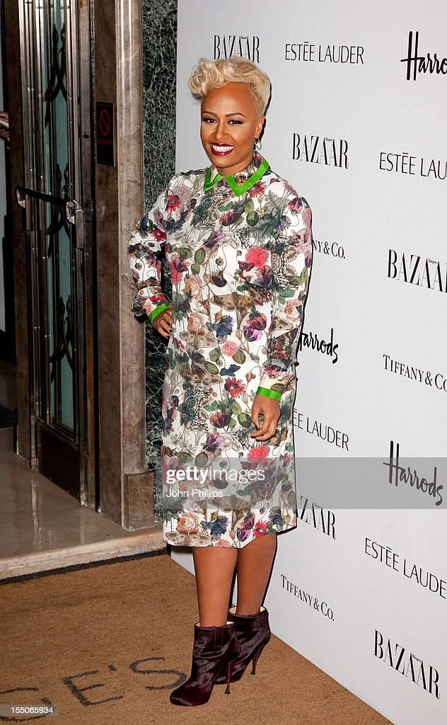 Emeli Sande attends the Harper's Bazaar Woman of the Year Awards at Claridge's Hotel on October 31, 2012 in London, England.