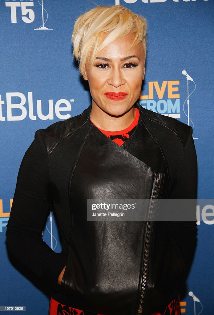 <a gi-track='captionPersonalityLinkClicked' href=/galleries/search?phrase=Emeli+Sande&family=editorial&specificpeople=7220317 ng-click='$event.stopPropagation()'>Emeli Sande</a> attends the JetBlue Live From T5 Concert Series at JFK Airport on April 26, 2013 in New York City.