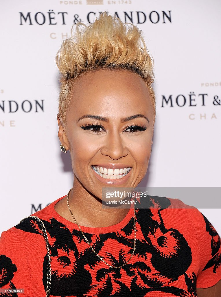 Emeli Sande attends the Moet & Chandon 270th Anniversary at Pier 59 Studios on August 20, 2013 in New York City.