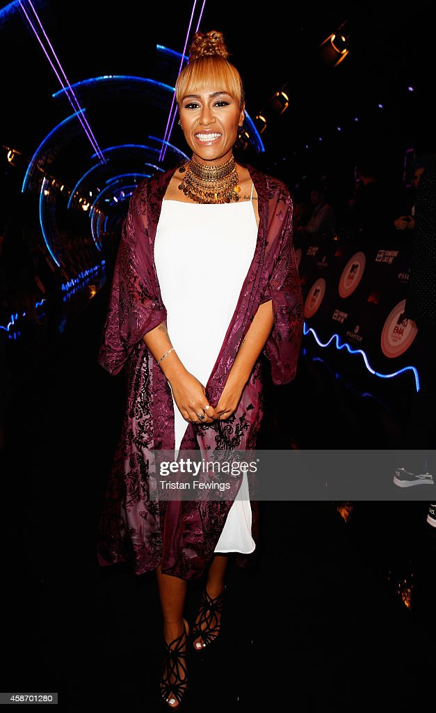 Emeli Sande attends the MTV EMA's 2014 at The Hydro on November 9 2014 in Glasgow Scotland