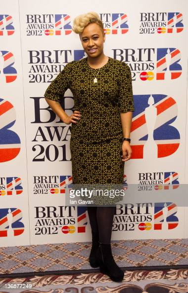 Emeli Sande attends the nominations announcement for The BRIT Awards 2012 at The Savoy Hotel on January 12 2012 in London England
