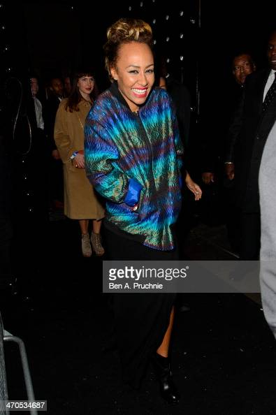 Emeli Sande attends the Universal music afterparty for The BRIT Awards 2014 at Soho House 'Popup' Bar on February 19 2014 in London England