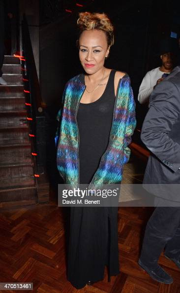 Emeli Sande attends the Universal Music Bacardi Brits' After Party At Soho House PopUp on February 19 2014 in London United Kingdom