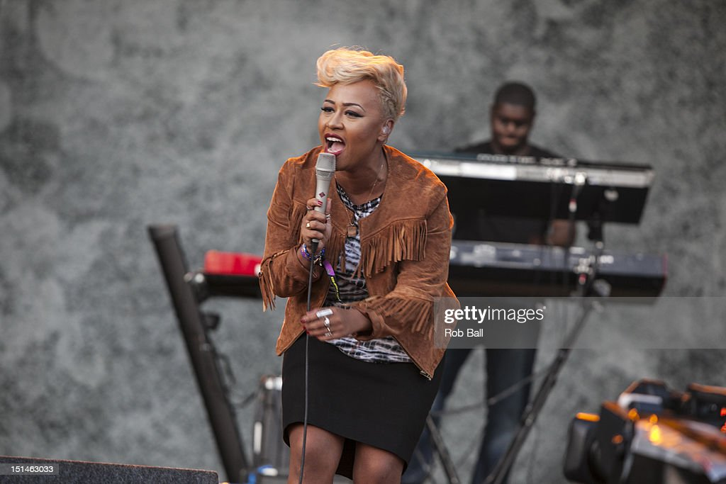 Emeli Sande performs at Bestival 2012 at Robin Hill Country Park on September 7, 2012 in Newport, Isle of Wight.