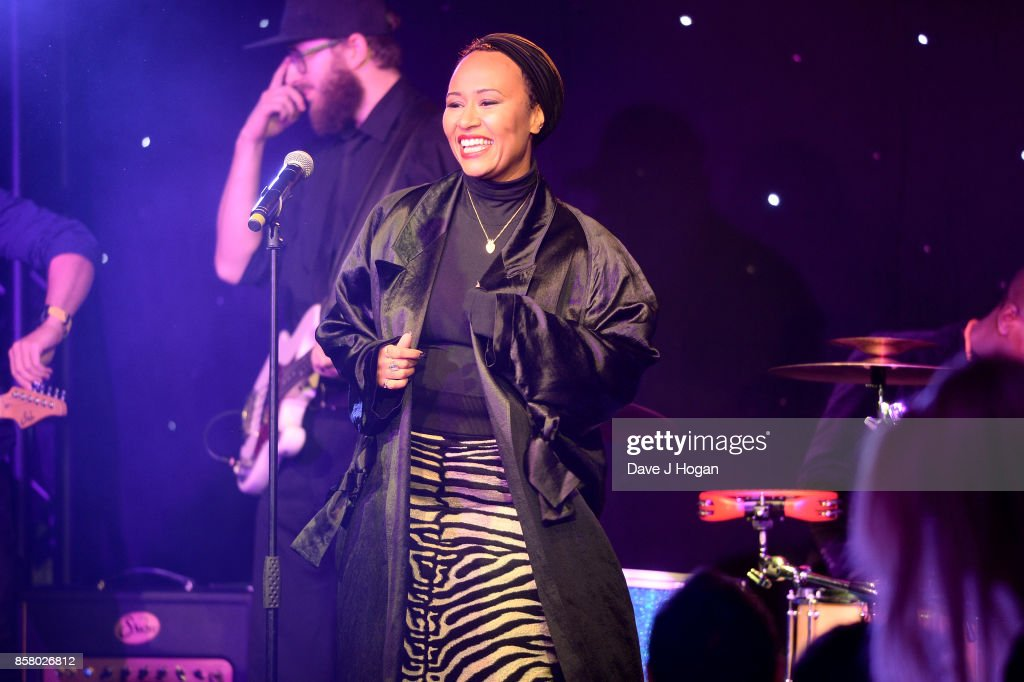 Emeli Sande performs at the Amy Winehouse Foundation Gala at The Dorchester on October 5, 2017 in London, England.