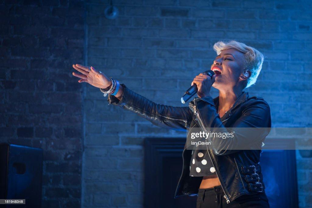 Emeli Sande performs at the Dakota as part of the fifth annual Arthur's Day celebrations on September 26 2013 in Dublin Ireland Arthur's Day sees...