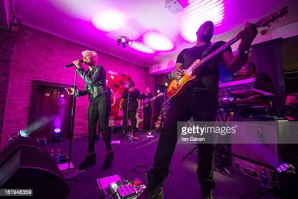 Emeli Sande performs at the Dakota as part of the fifth annual Arthur's Day celebrations on September 26 2013 in Dublin Ireland Arthur's Day sees...