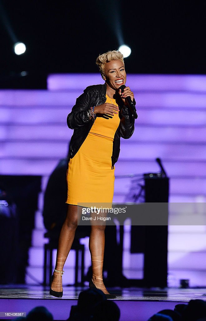 Emeli Sande performs at 'Unity: A Concert For Stephen Lawrence' in aid of The Stephen Lawrence Charitable Trust at the O2 Arena on September 29, 2013 in London, England.