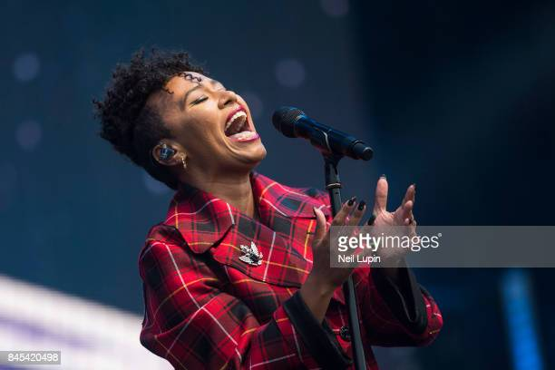 Emeli Sande performs live on stage during BBC Radio 2 Live at Hyde Park on September 10 in London ENGLAND