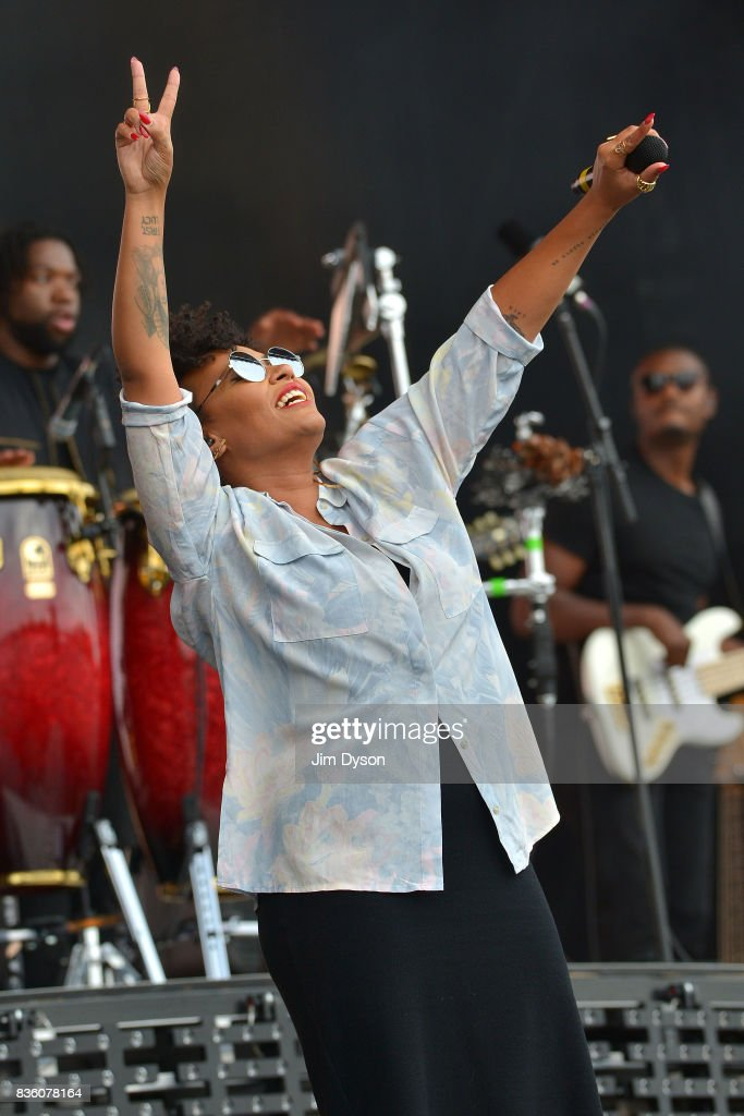Emeli Sande performs live on stage during V Festival 2017 at Hylands Park on August 20, 2017 in Chelmsford, England.